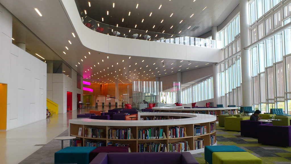 Hunt Library, NC State Univ. by Payton Chung, on Flickr