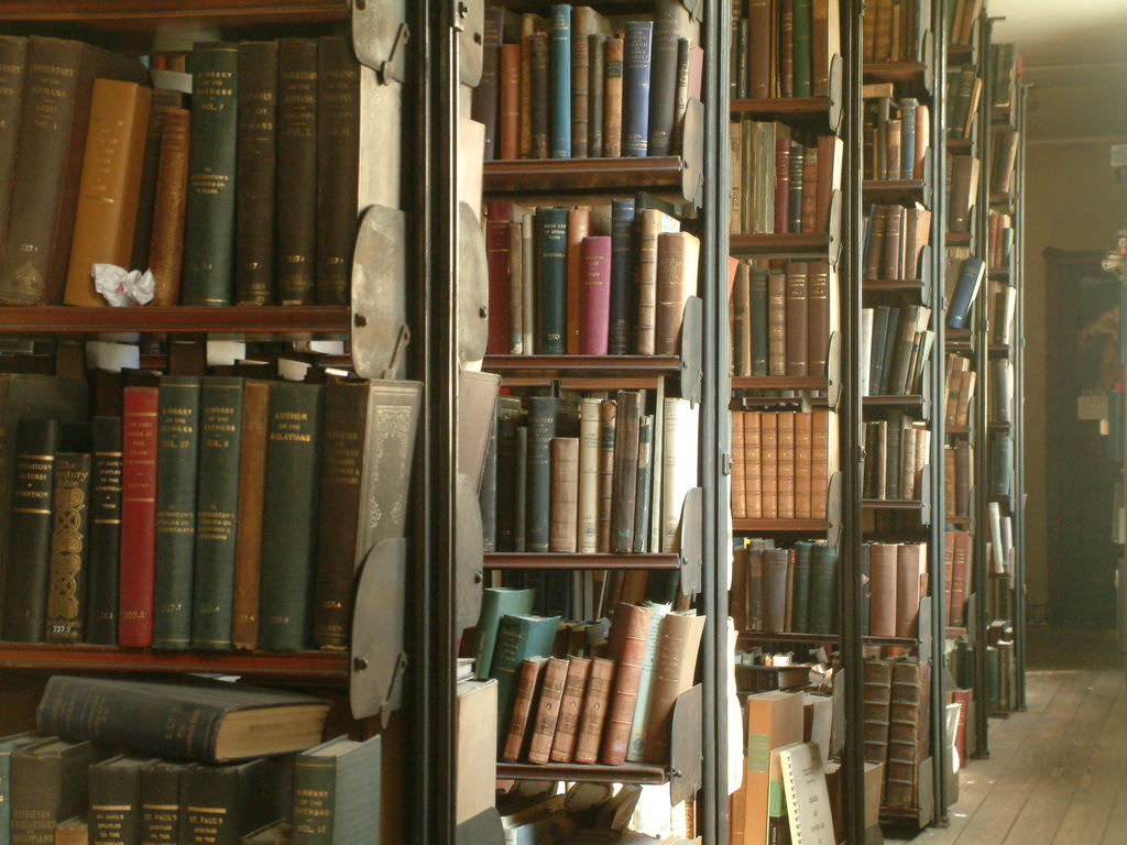 theology books, Bristol library by aesop, on Flickr