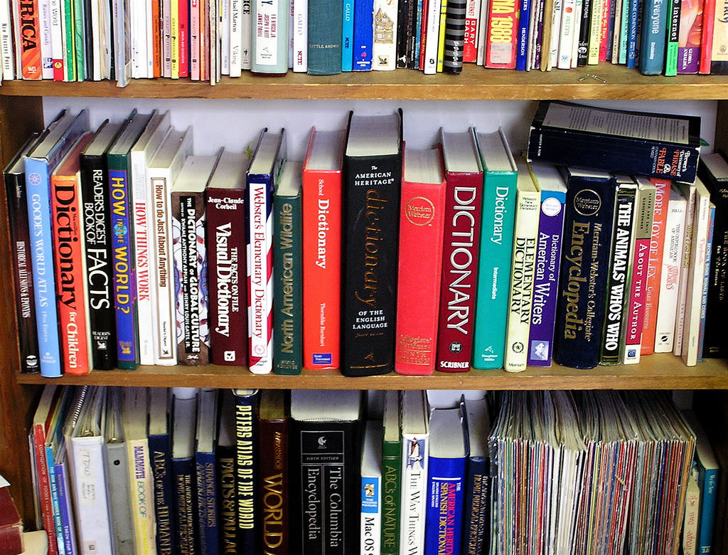 shelf in my reference library by Muffet, on Flickr