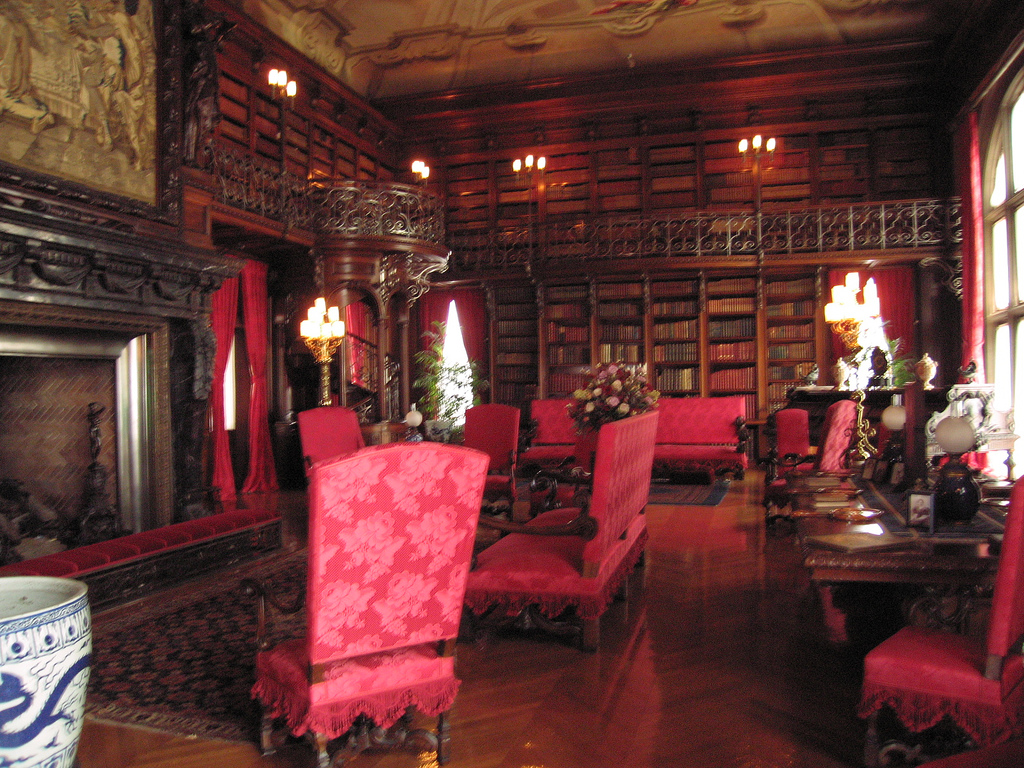 Library inside Biltmore by Chor Ip, on Flickr
