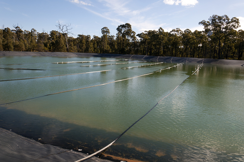 Coal seam gas evaporation pond, Pilliga by Beyond Coal and Gas, on Flickr