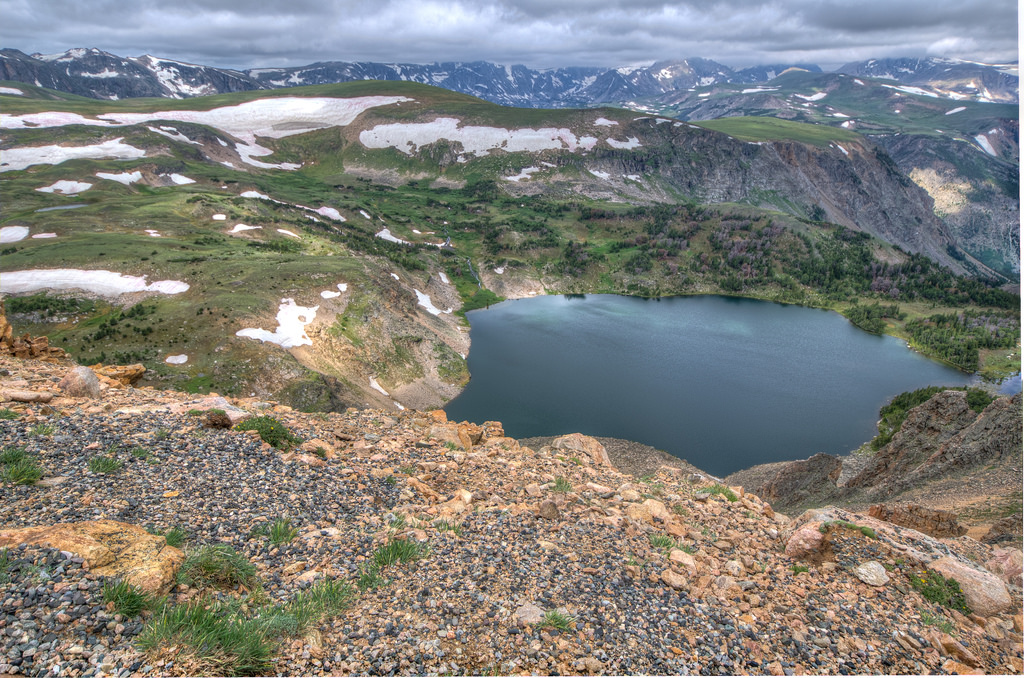 An alpine lake on the Beartooth Pass - H by m01229, on Flickr
