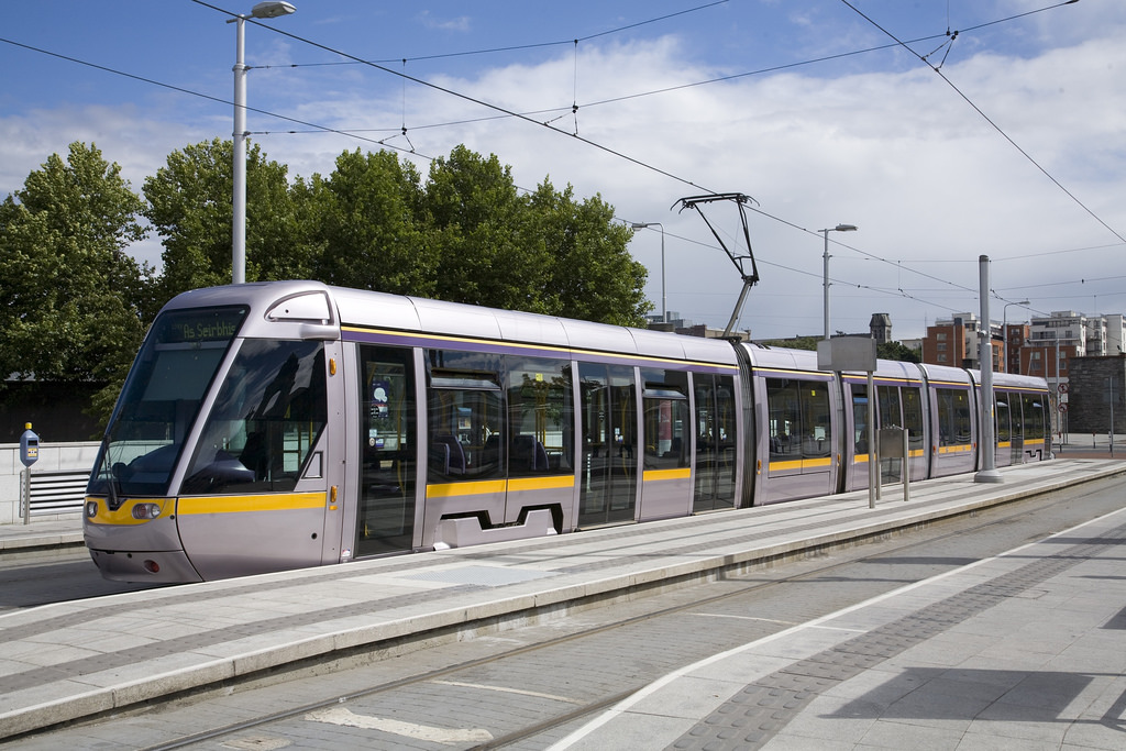 Luas Tram Stop Outside Heuston Railway S by infomatique, on Flickr