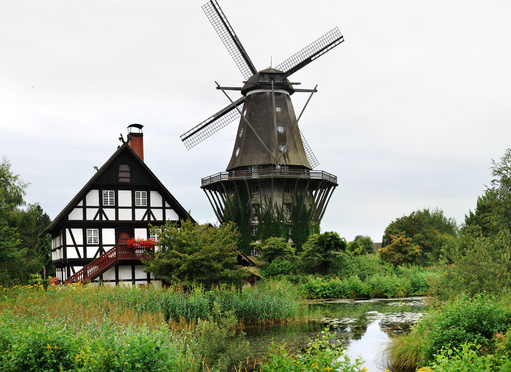 Sanssouci, a German smock mill, Windmill by AbhijeetRane, on Flickr