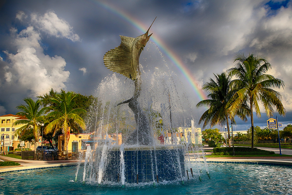 Stuart, Florida Sailfish Fountain by mitchpix, on Flickr
