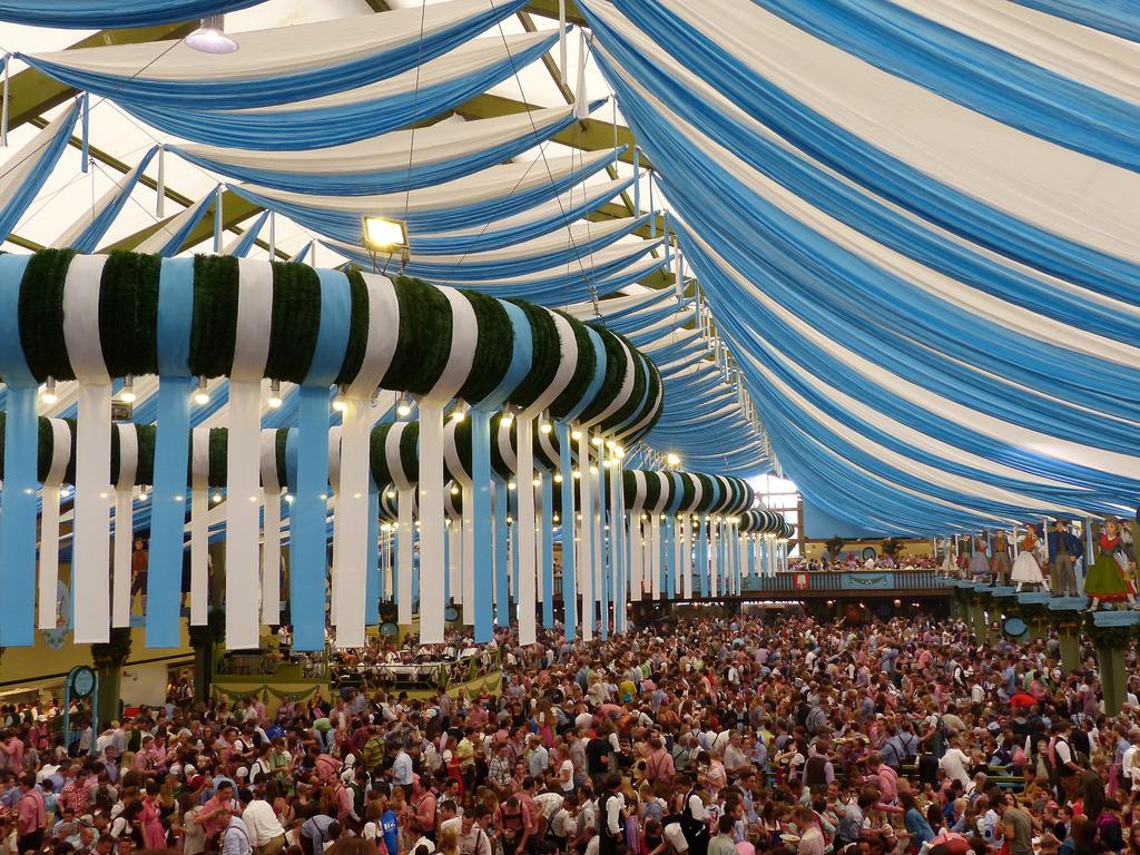 Oktoberfest in Munich: inside the tent by romanboed, on Flickr