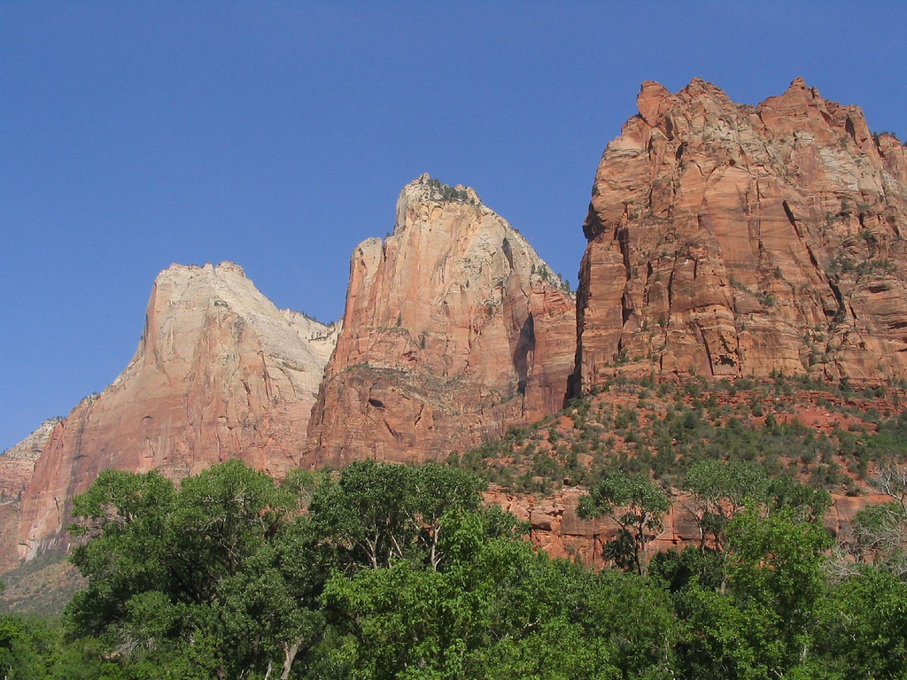 Court of the Patriarchs, Zion Canyon, Zi by Ken Lund, on Flickr