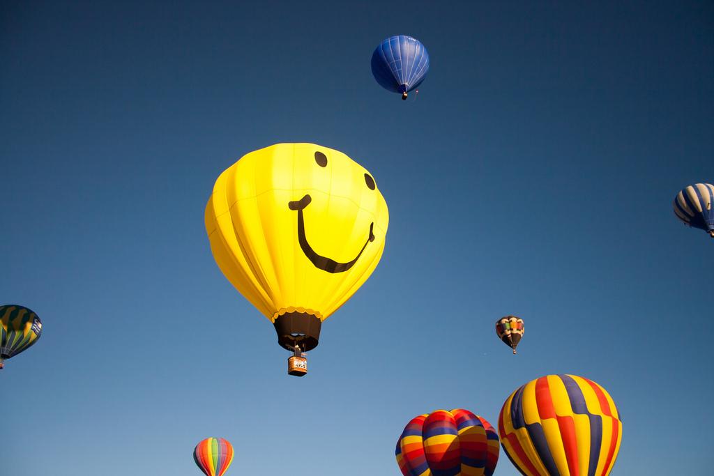 Mr. Smiley Hot Air Balloon by Garrett Heath, on Flickr