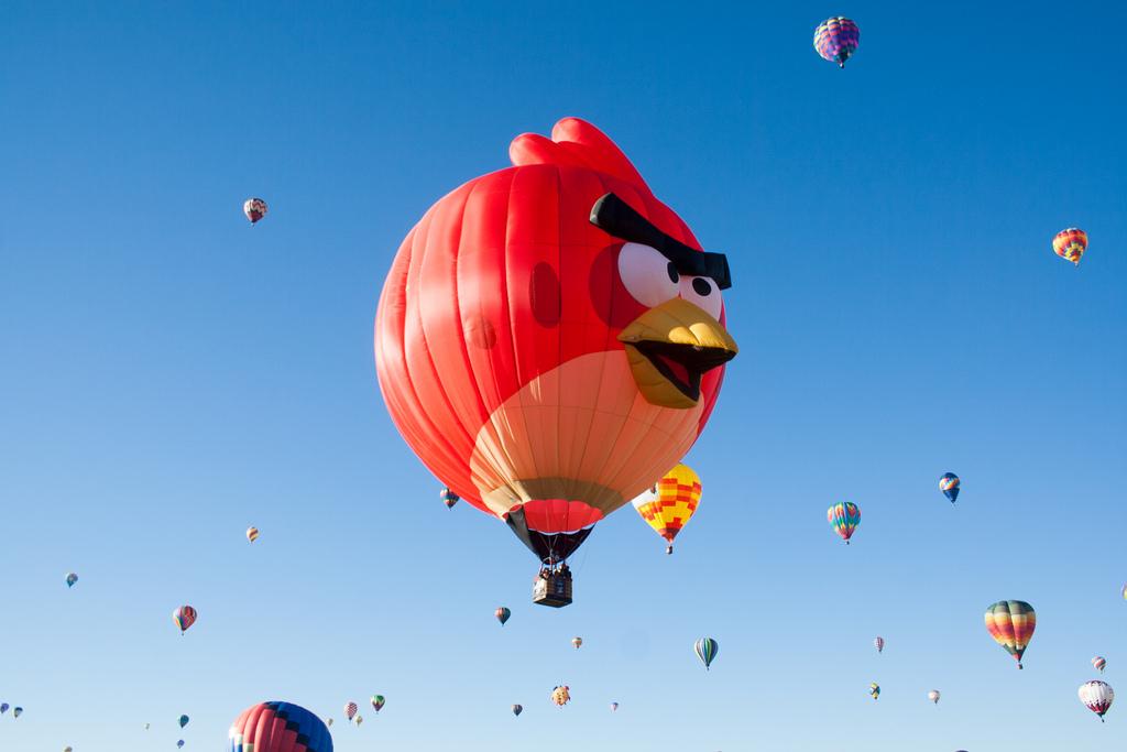 Angry Birds Hot Air Balloon in the Air by Garrett Heath, on Flickr