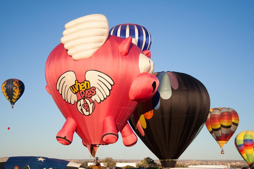 When Pigs Fly Hot Air Balloon by Garrett Heath, on Flickr