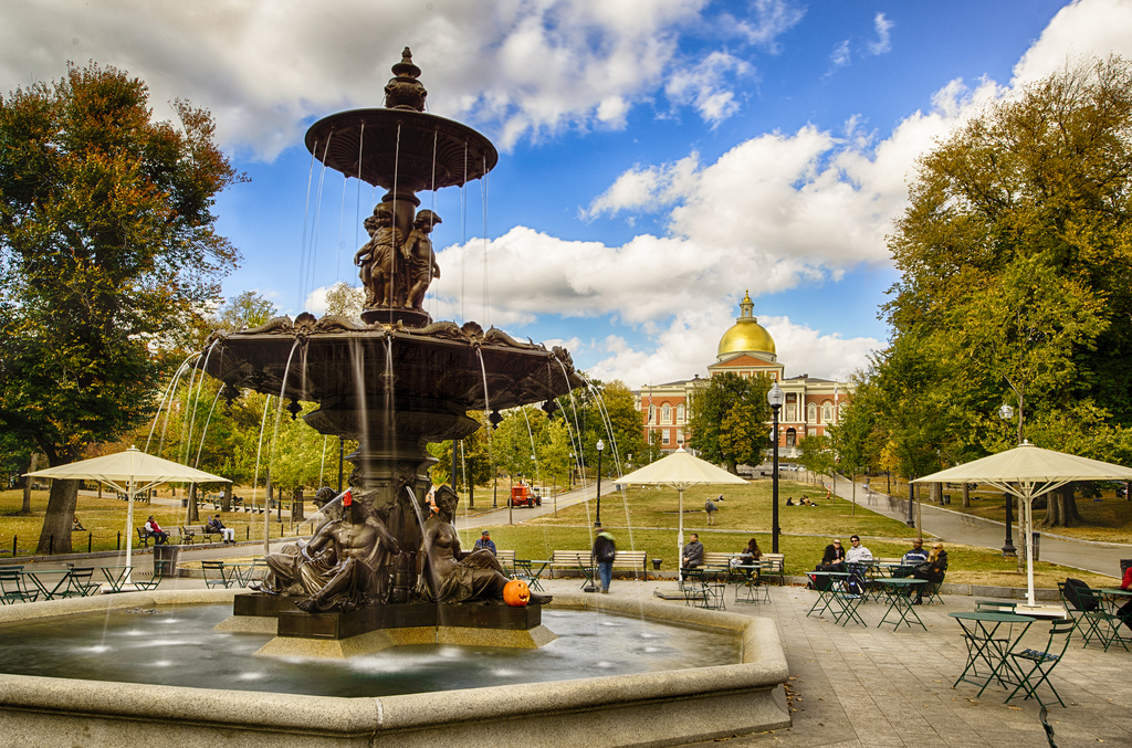 Boston Common Fountain (HDR) by Eric Kilby, on Flickr