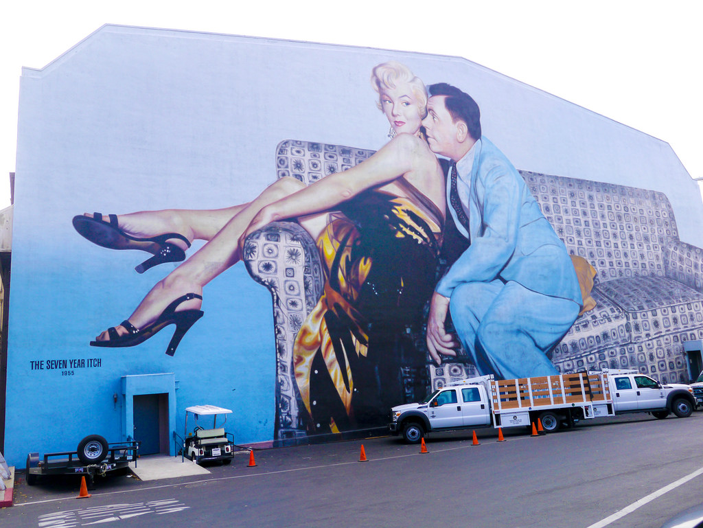 The Seven Year Itch mural on Twentieth C by jay galvin, on Flickr