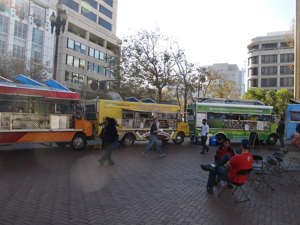 Food Trucks, United Nations Plaza, San F by Ken Lund, on Flickr