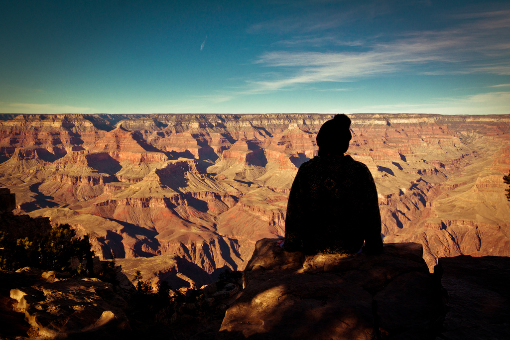 Sitting on the Rim of the Grand Canyon by nan palmero, on Flickr