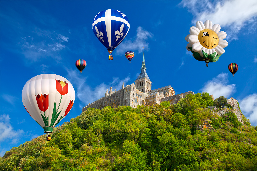 Hot Air Balloons - Mont Saint-Michel by freestock.ca ♡ dare to share beauty, on Flickr