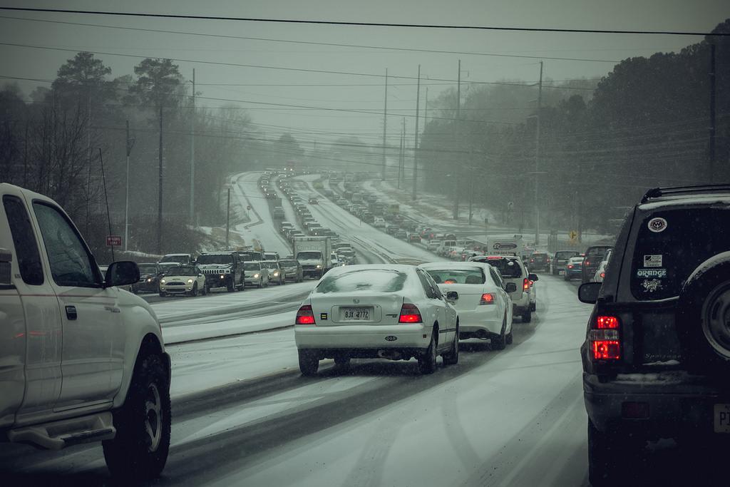 #Snowpocalypse Atlanta 2014 - traffic by William Brawley, on Flickr