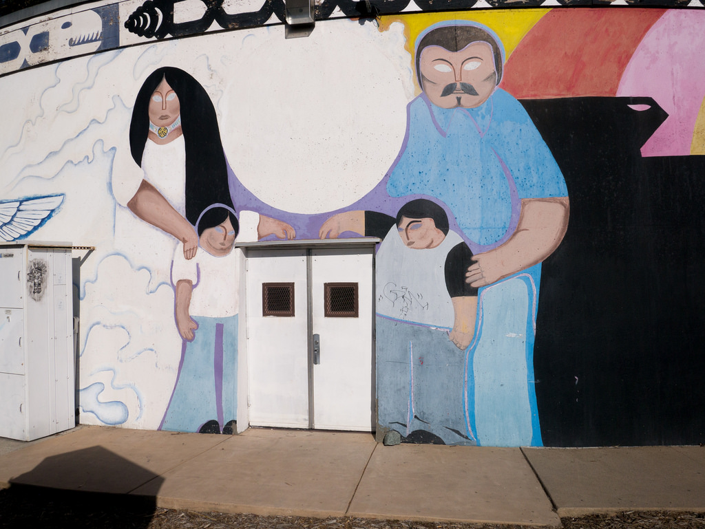 Hispanic Family, doors, mural by jay galvin, on Flickr