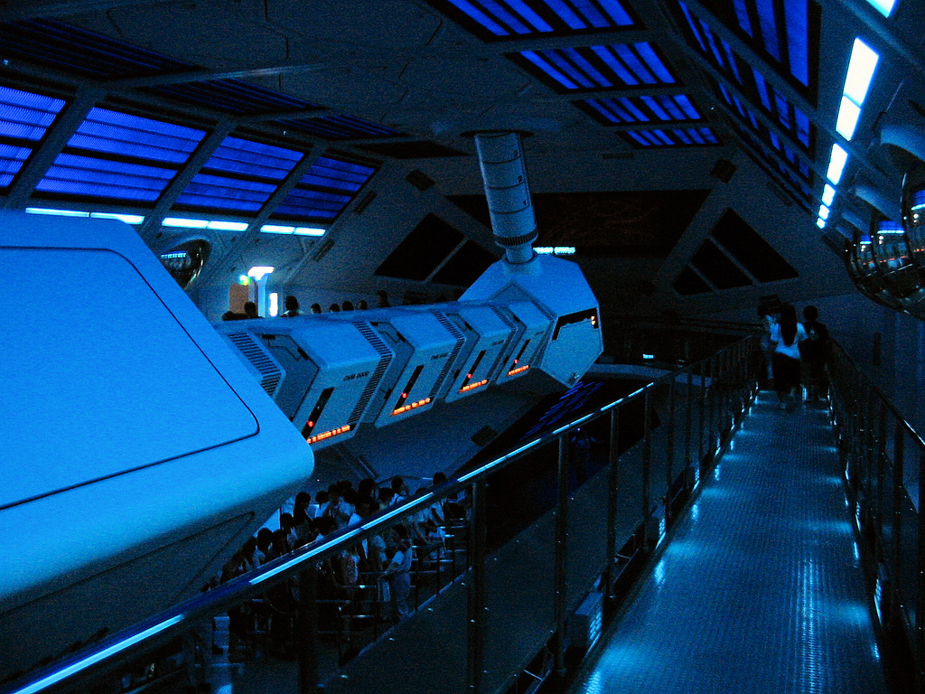 Disneyland Tokyo - Space Mountain interi by DocChewbacca, on Flickr
