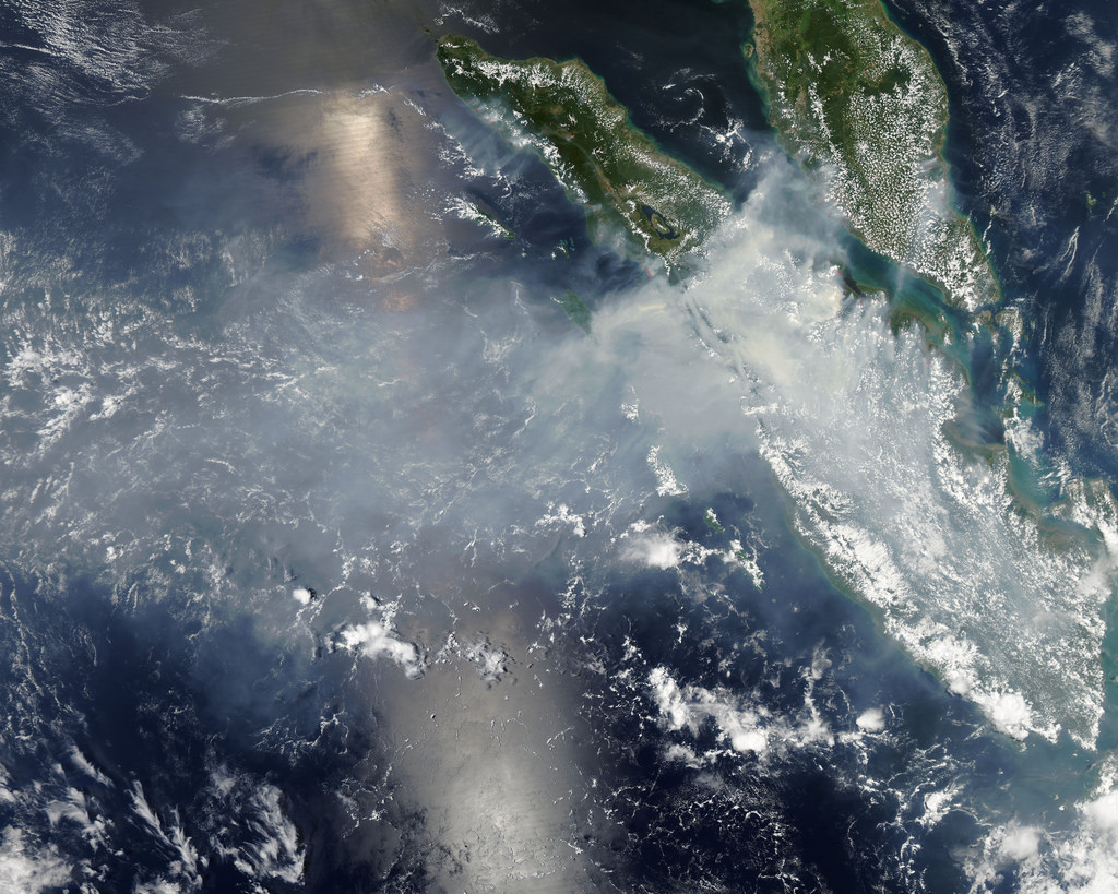 Smoke and fires from Sumatra by NASA Goddard Photo and Video, on Flickr