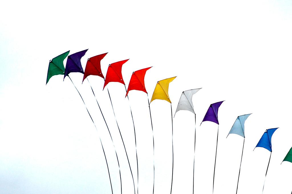 Colourful Kites by John Vetterli, on Flickr