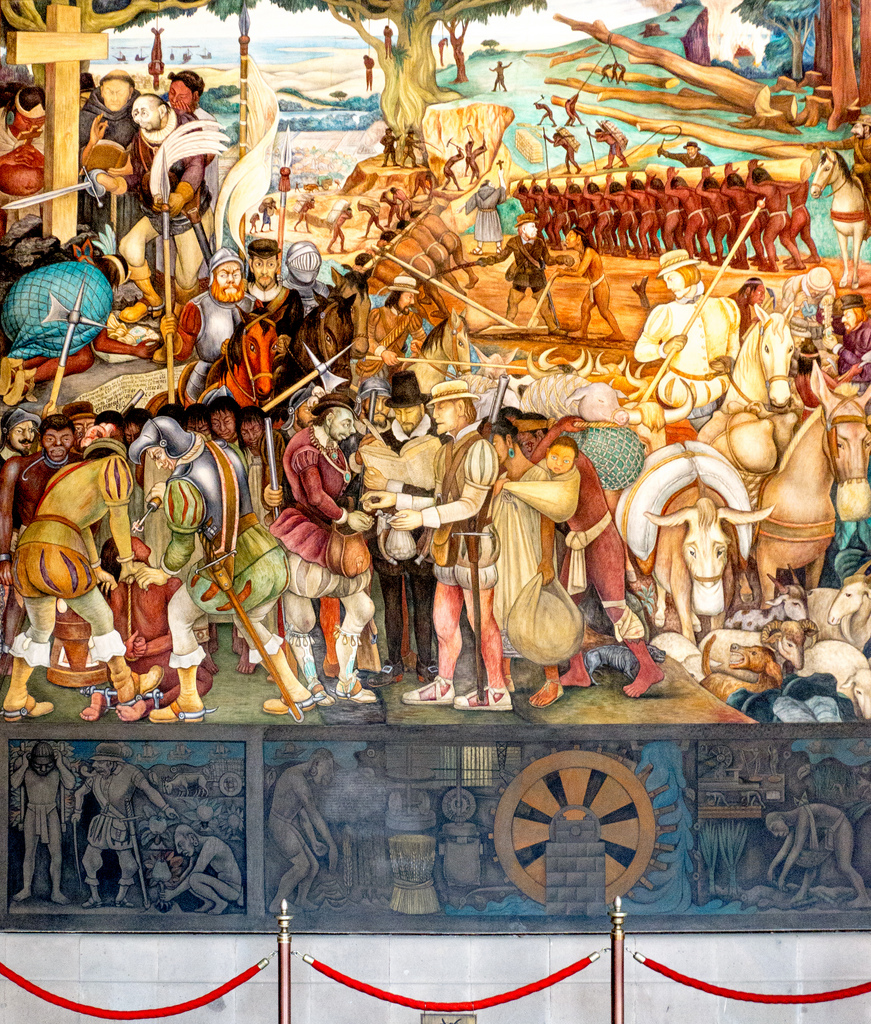 Diego Rivera Conquistador mural by jay galvin, on Flickr