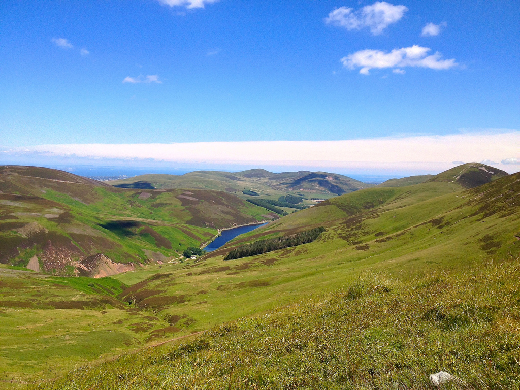 A sunny day in the Pentland hills by johnomason, on Flickr