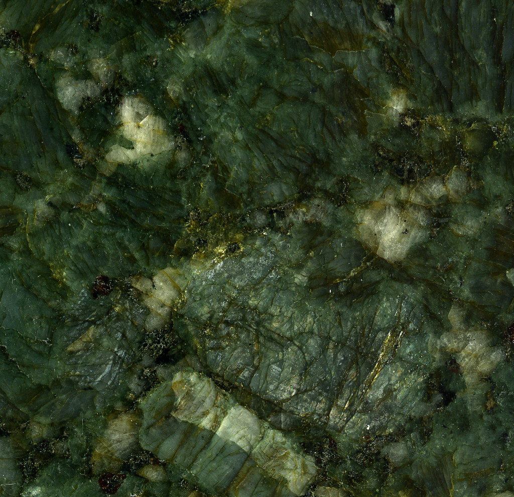 Verde Butterfly Granite (garnetiferous c by James St. John, on Flickr