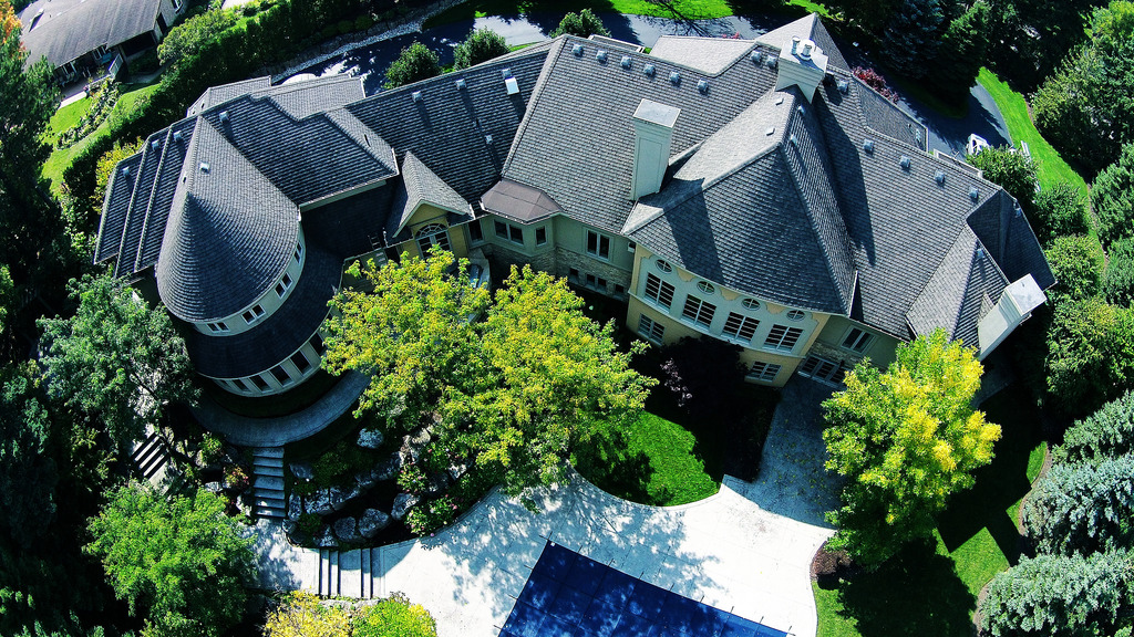 Aerial Photography Ancaster Mansion by davelauretti, on Flickr