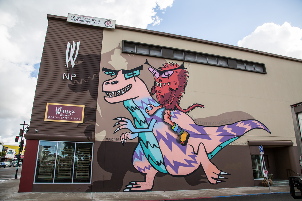 MADSTEEZ North Park Dinosaur Mural by Tony Webster, on Flickr