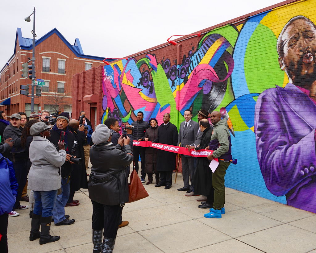 Ribbon Cutting of new Marvin Gaye Mural by tedeytan, on Flickr