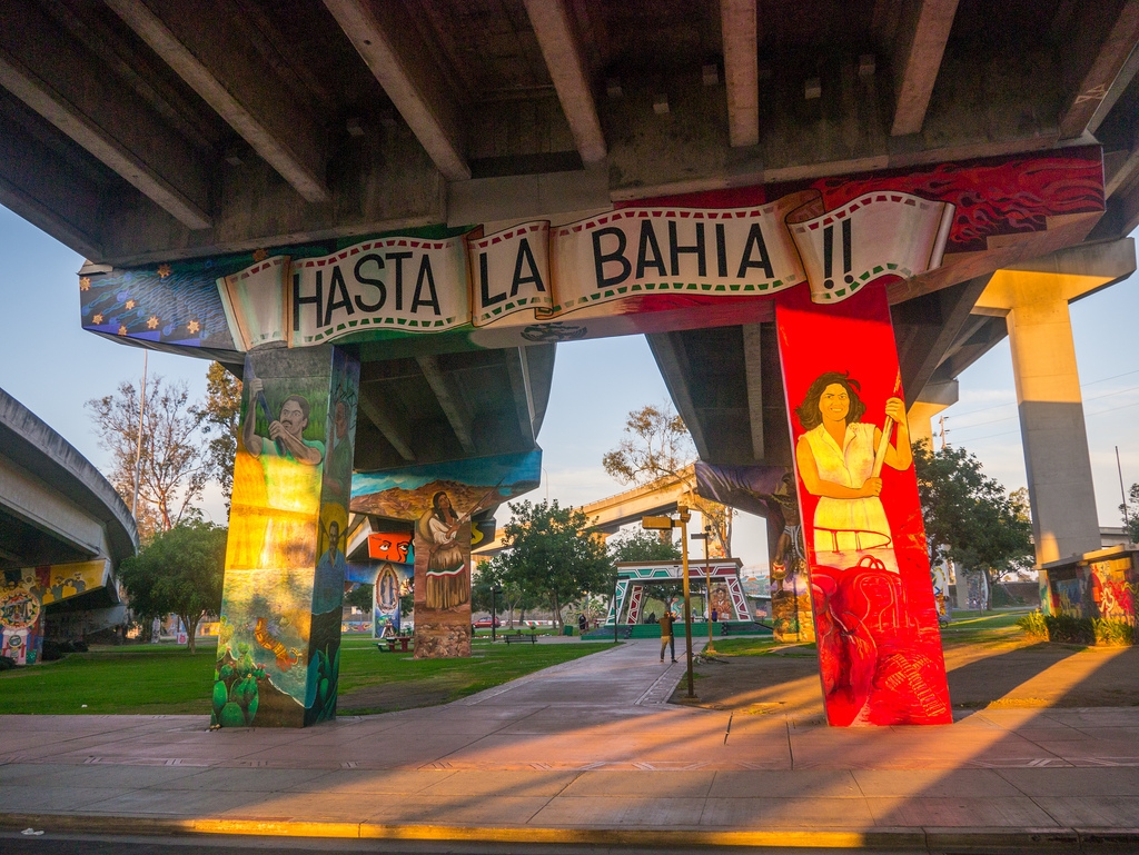 mural under bridge in Chicano Park, San by jay galvin, on Flickr