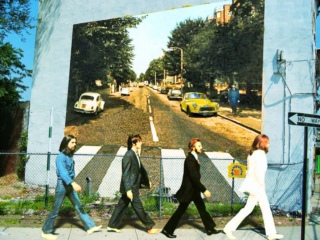 wall - abbey road mural by oddsock, on Flickr