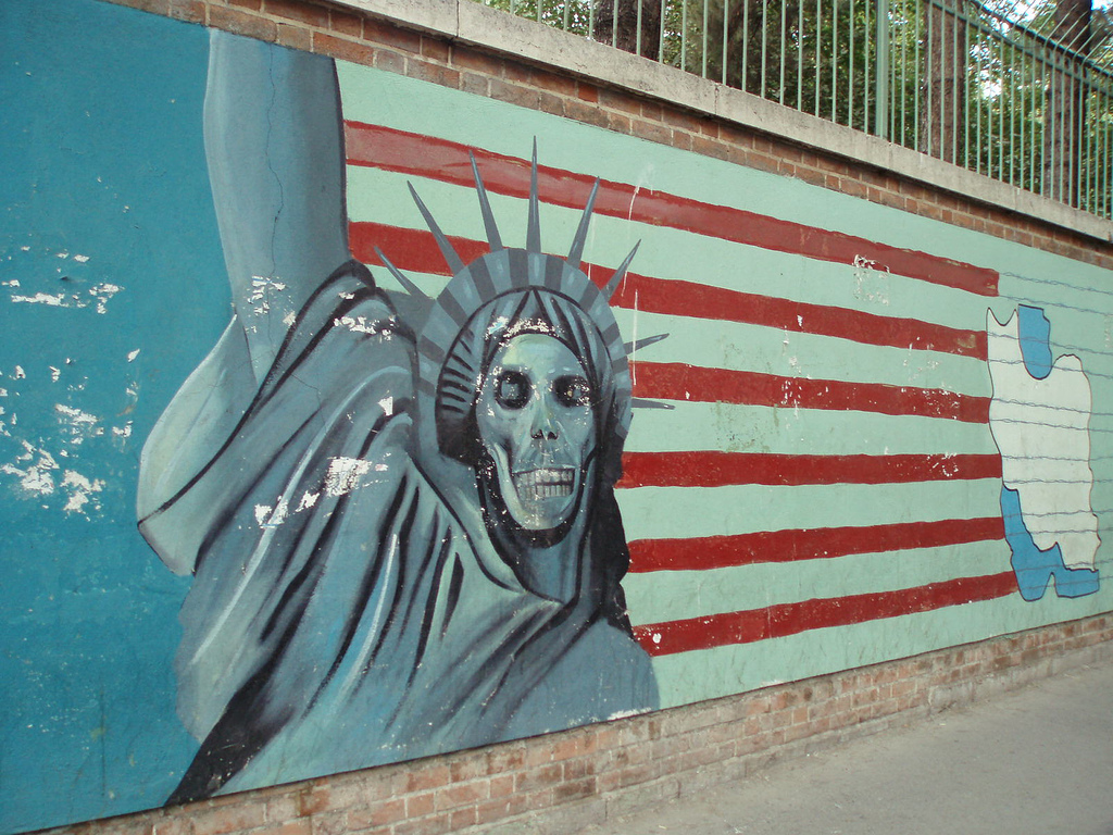 Iran 2007 025  Famous mural of Statue of by David Holt London, on Flickr