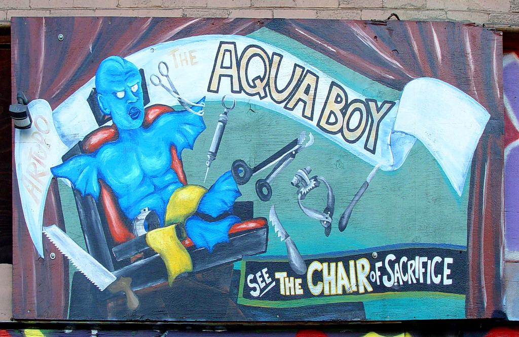 Mural: Arturo the Aqua Boy... See the ch by Franco Folini, on Flickr