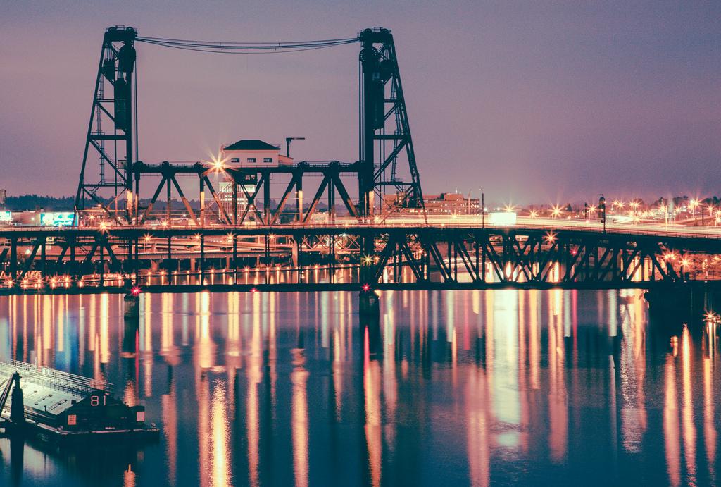 Portland Steel Bridge at Night by Tony Webster, on Flickr