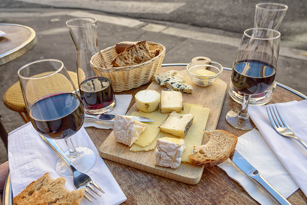 Cheese, Wine and Bread. by Mustang Joe, on Flickr