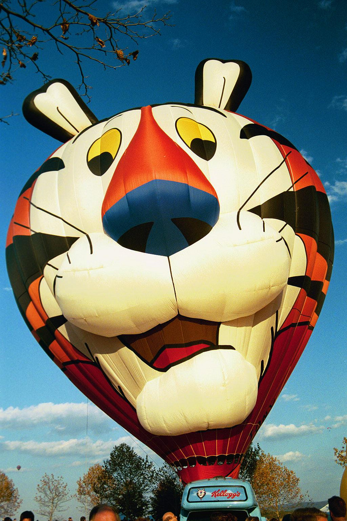 'Tony the Tiger' Hot-Air Balloon (Millwo by Ron Cogswell, on Flickr