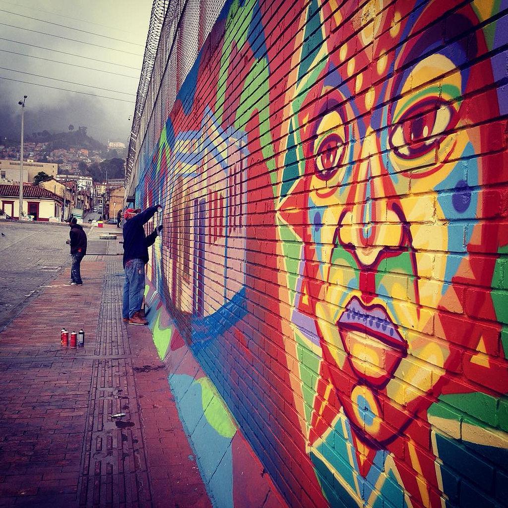 Muralismo colectivo! Avanzamos en Las Cr by GUACHE ., on Flickr