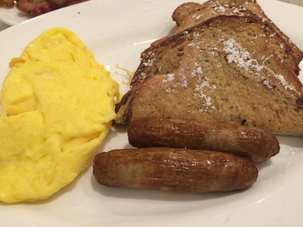 Big Breakfast Eggs French Toast Sausage by stevendepolo, on Flickr