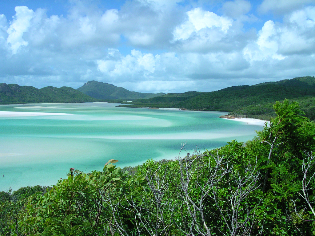 Blue water and beach - Whitsunday Island by brewbooks, on Flickr