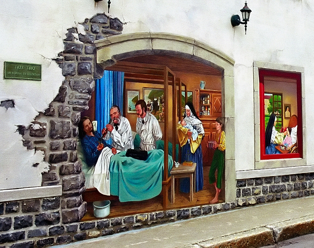 Quebec City - Street Wall Mural by David Paul Ohmer, on Flickr