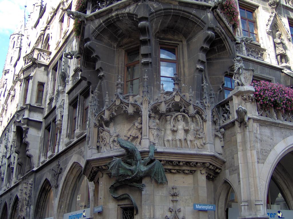 Munich Town Hall Dragon by rileyroxx, on Flickr