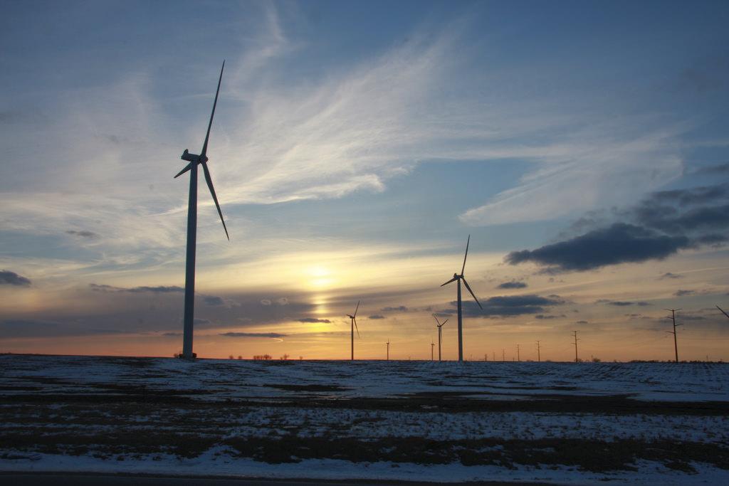 Wind Farm at Sunset by chaunceydavis818, on Flickr