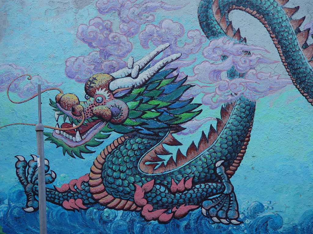 Mural: Chinese Dragon by Franco Folini, on Flickr