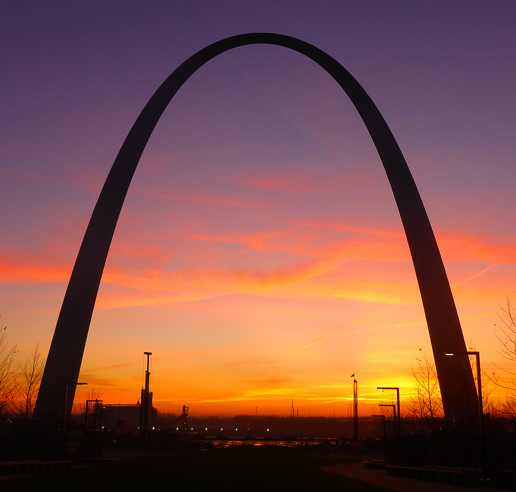 Purple Orange Sunrise Arch by Jefferson National Expansion Memorial, NPS, on Flickr