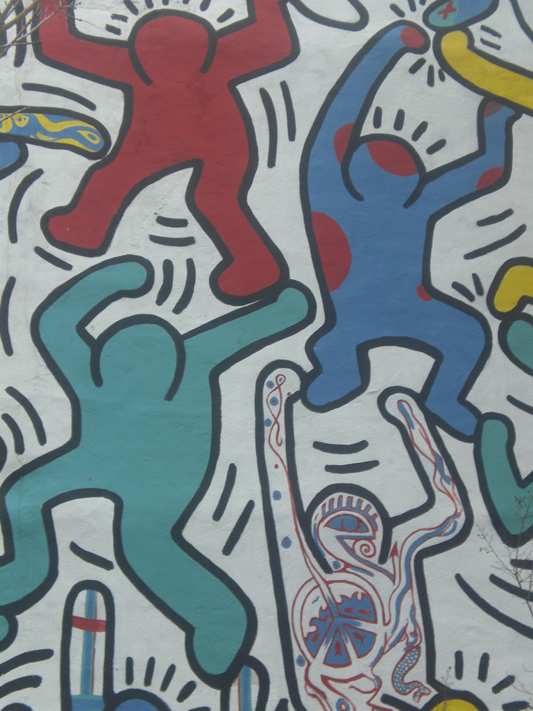 Keith Haring Mural by Whatsername?, on Flickr