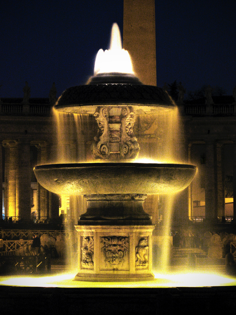 Fountain in St. Peter's square, Rome by Dimitry B, on Flickr