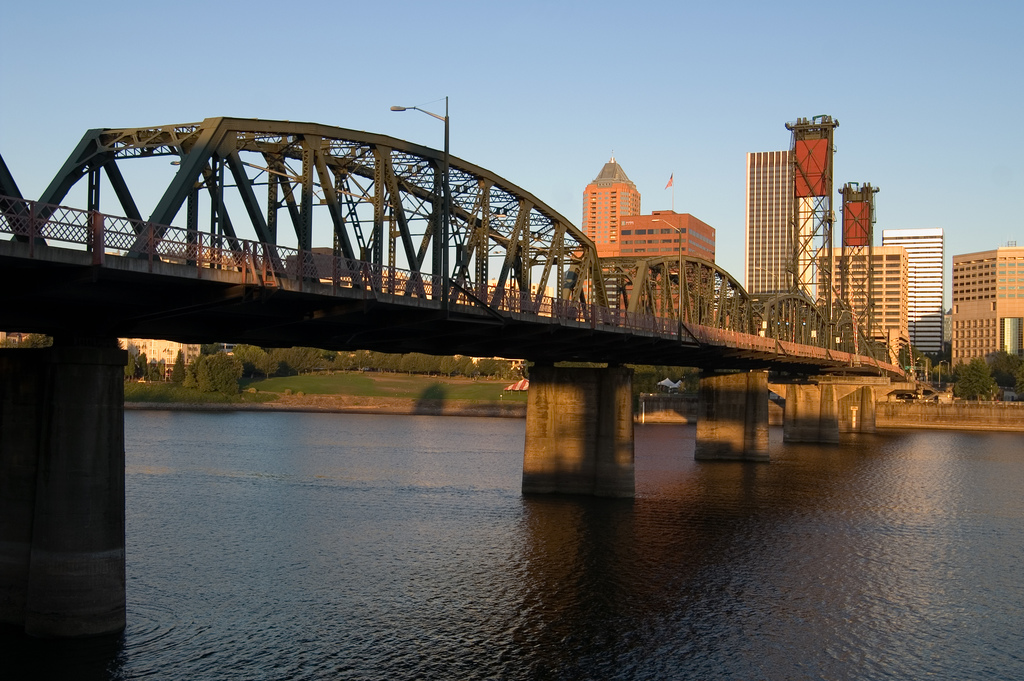 Early Morning Bridge Traffic by StuSeeger, on Flickr