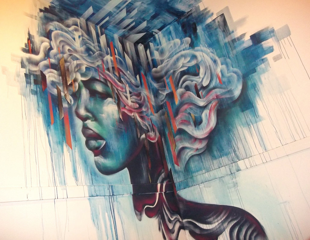 Mural: Urban Goddess - (Art Hotel 916) by jmf1007, on Flickr
