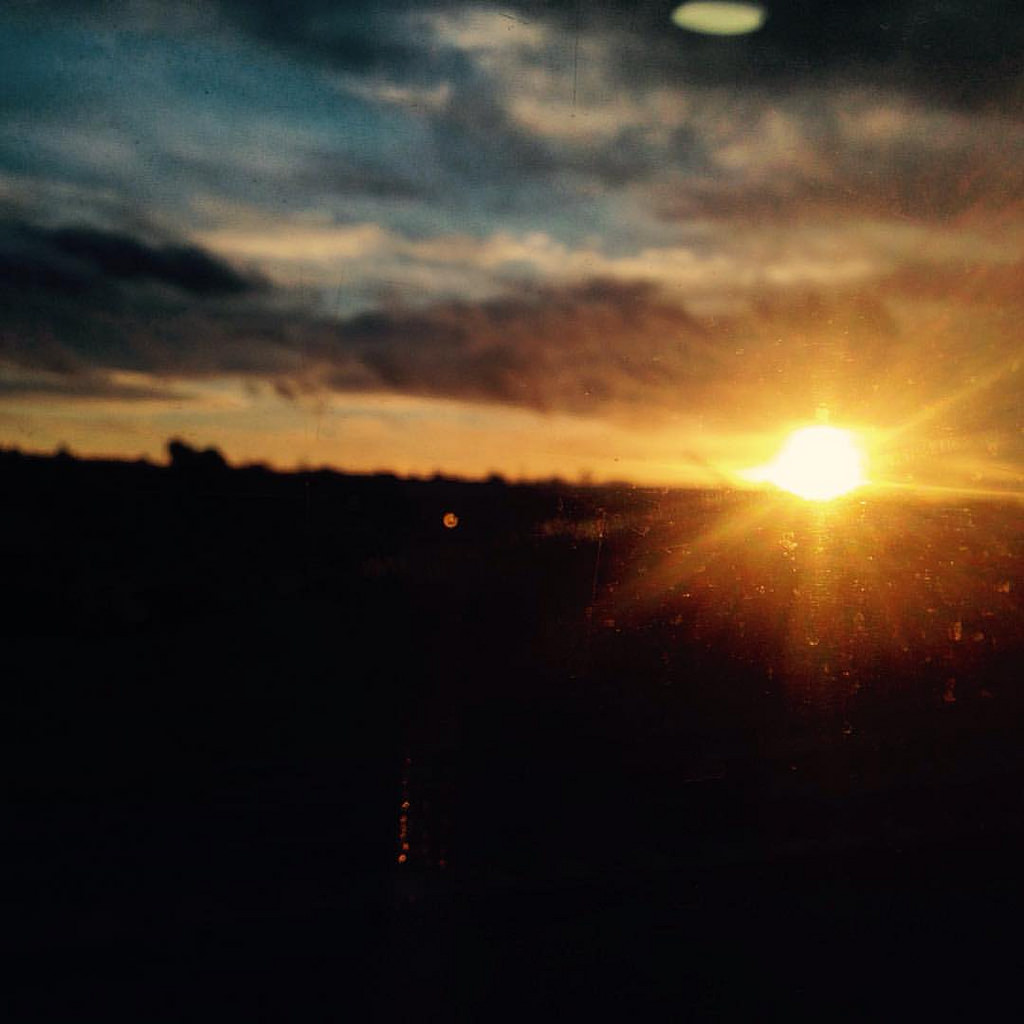 Sunset from the train by Rev Stan, on Flickr